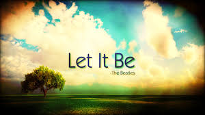 Let it be is a great emotional toughness strategy